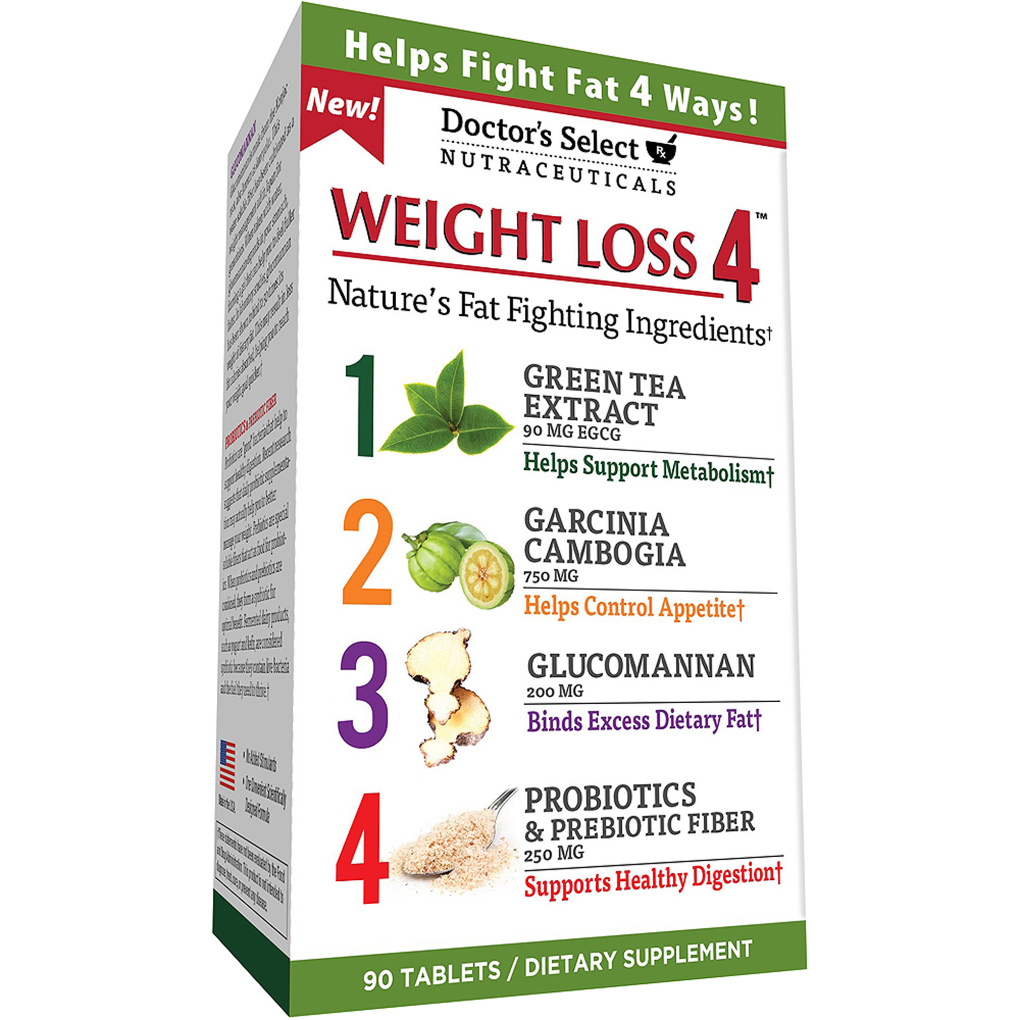 Doctor's Select Weight Loss 4 Dietary Supplement Tablets, 90 count