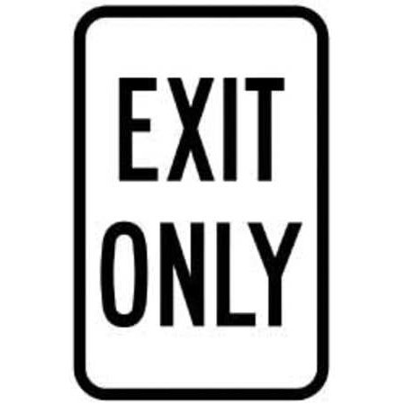 Brady 115242 Traffic Sign  18 X 12In  Bk Wht  Exit Only