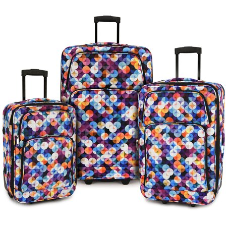 Gem Bubbles 3-Piece Expandable Rolling Luggage (Rolling Luggage Set)