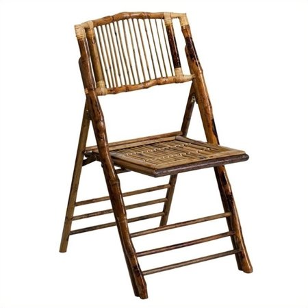 Bowery Hill Bamboo Folding Chair in Brown - image 2 de 2