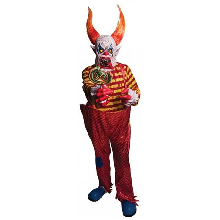 Fangs Costume (Horns and Fangs Clown Costume - Size ONE SIZE FITS)