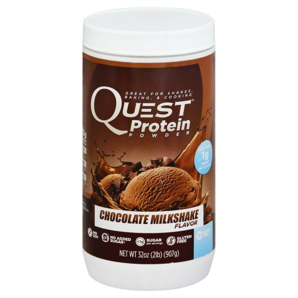 Quest Nutrition Protein Powder, Chocolate Milkshake, 23g Protein, Soy Free, 2lb Tub []