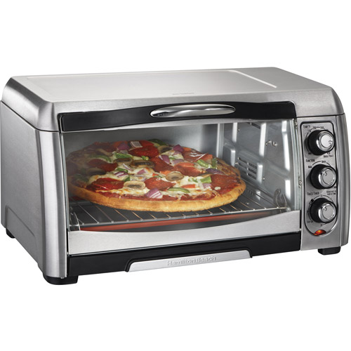 Hamilton Beach Stainless Steel Convection 6 Slice Toaster Oven Broiler | Model# 31333D