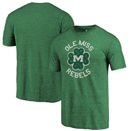 Ole Miss Rebels Fanatics Branded St. Patrick's Day Luck Tradition Tri-Blend T-Shirt - Heathered