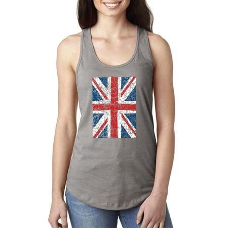 Kids Union Jack Dress (Vintage Union Jack British Flag United Kingdom Flag Women's Racerback Tank)