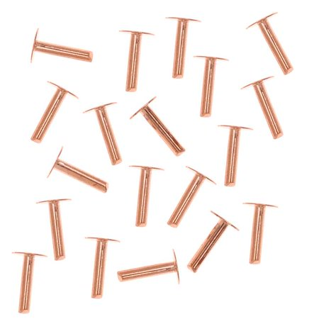 1/4 Inch Rivet - Copper 1/4 Inch Nail Head Rivets for Leather 1.3mm Diameter, 20 Pieces