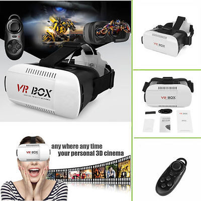 Hot Sexy 3D Virtual Reality Headset 100° Viewing Goggles for Smartphones with Wireless Remote