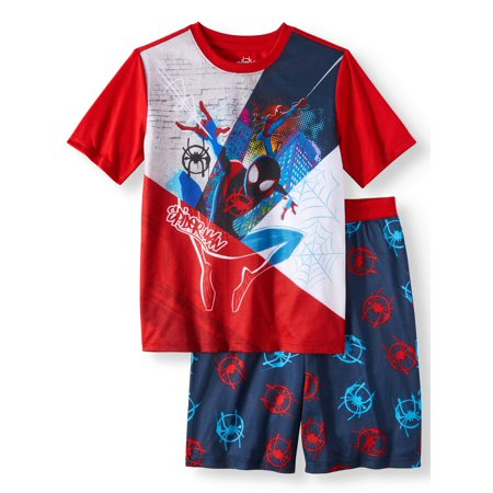 Boys' Spiderman 2 Piece Pajama Sleep Set (Little Boy & Big Boy) (The Amazing Spider Man Suit For Kids)
