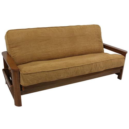 Blazing Needles Premium Camel Box Cushion Futon Slipcover