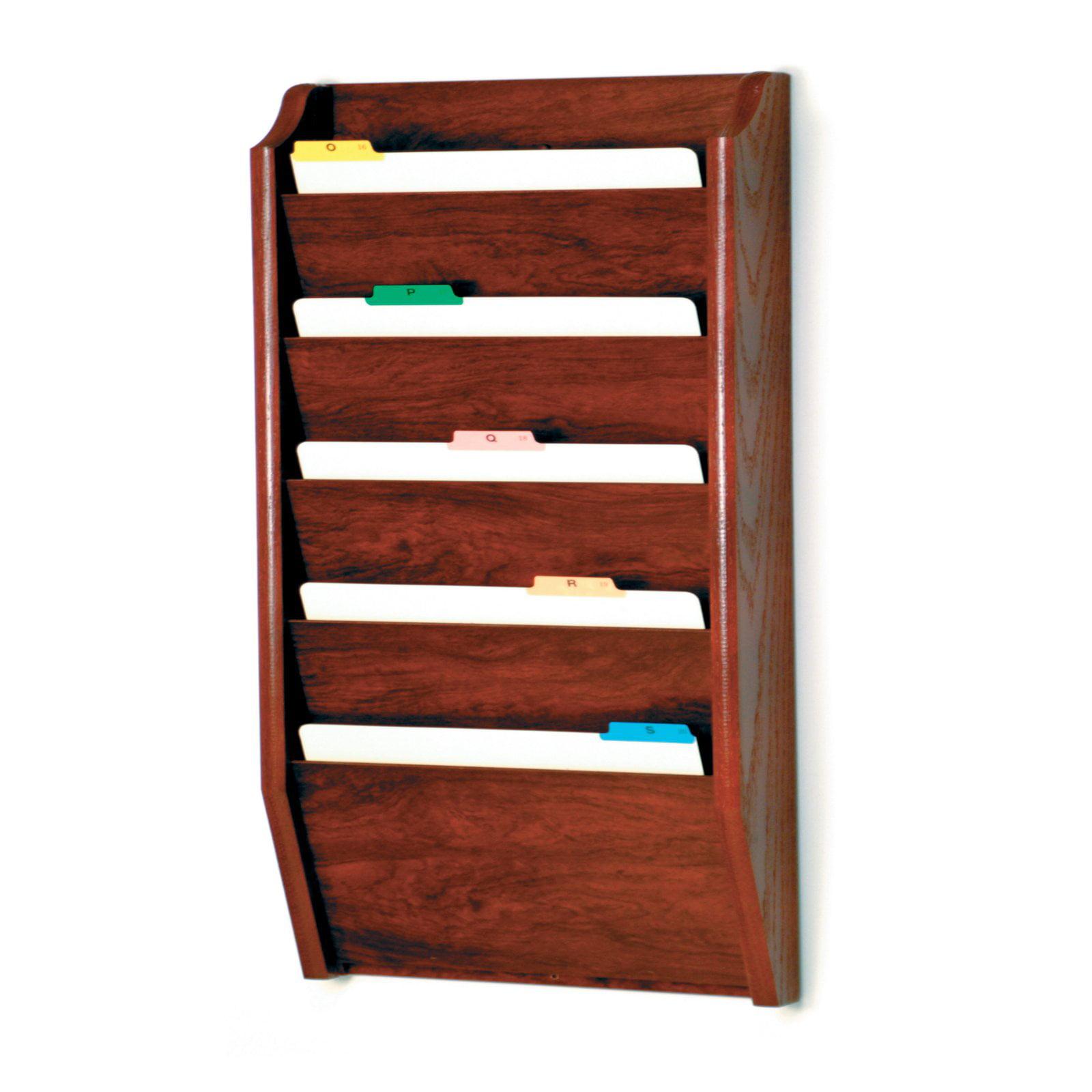 Wooden Mallet 5 Pocket Legal Size File Holder