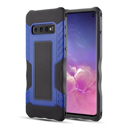 Samsung Galaxy S10 Phone Case Armor Rubberized Protective Hybrid TPU Inner Soft Case + Hard PC Outter Shell with Shock Absorption, Anti Slippery Grip Case BLUE Cover for Samsung Galaxy S10 (6.1 inch) Soft Rubberized Grip Mechanism