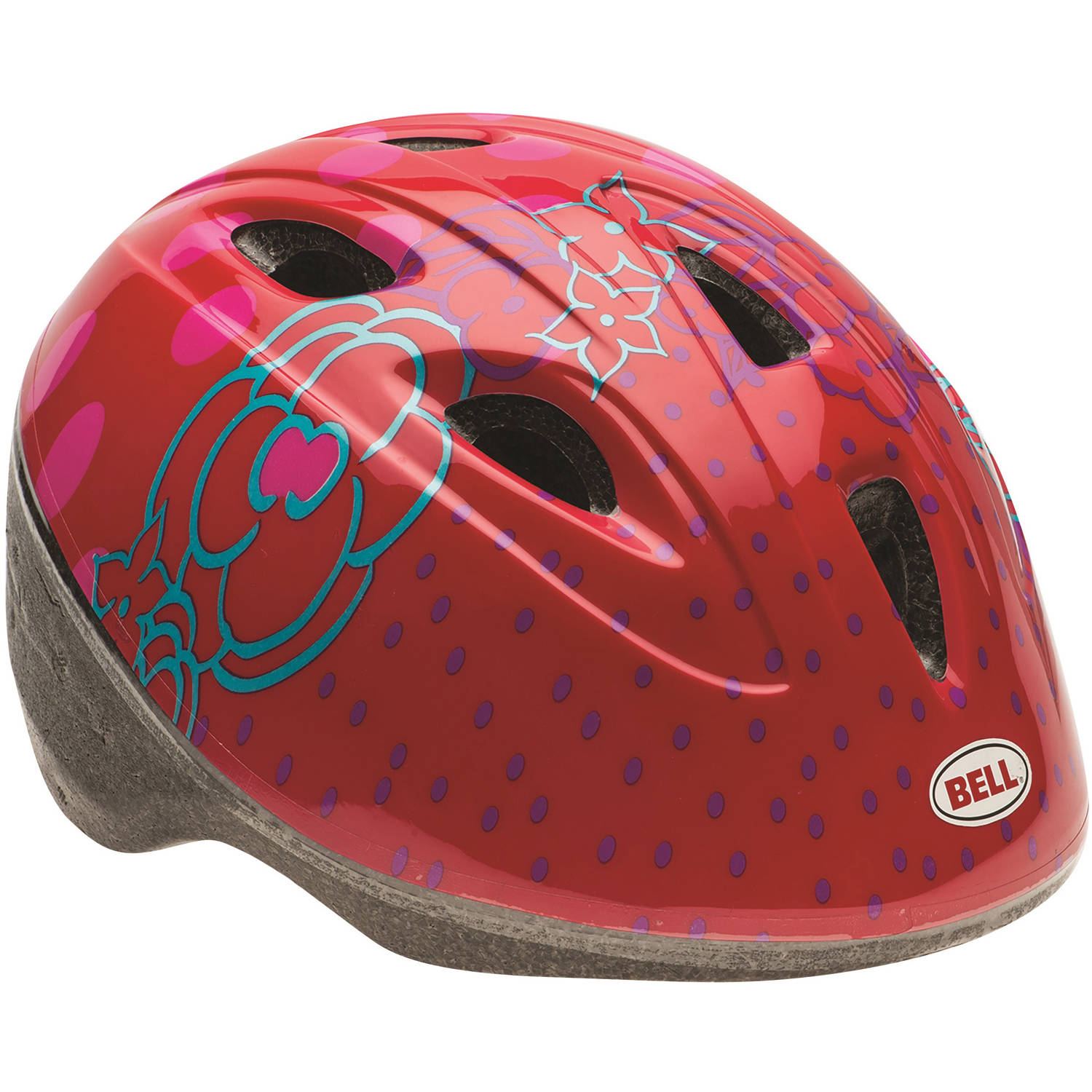Bell Sports Zoomer Red Jumphouse Flowers Toddler Bike Helmet