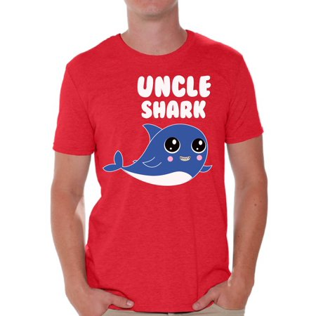 Awkward Styles Uncle Shark T-shirt Shark Family Shirts Family Vacation Shirts Men's Shark T Shirt Matching Family Collection Best Uncle Shirts Cute Shark Tshirts for Family Shark Themed Party
