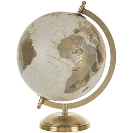 Gold Globe with Stand Home Decoration Media Room Theater