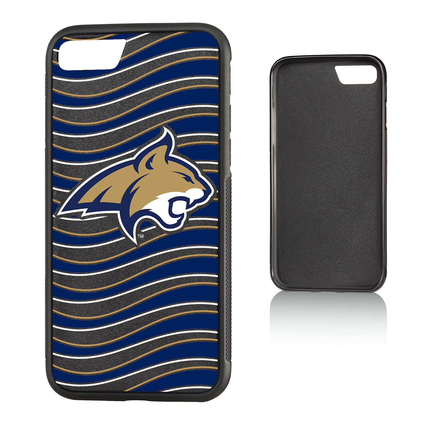 MSU Montana State Bobcats Wave Bump Case for iPhone 8 / 7