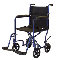 Graham Field 19 Inches Lightweight Aluminum Transport Wheelchair, Model #Ej768-1 - 1 Ea