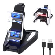 PS5 Charger Station,Dual Charge PS5 Controller Charger, Auarte for Playstation 5 DualSense Controller Charger Charging Docking Station Stand