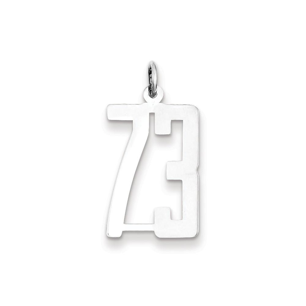 Sterling Silver Large Elongated Polished Number 73