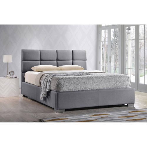 Baxton Studio Sophie Modern And Contemporary Grey Fabric Upholstered King Size Platform Bed Walmart Com Walmart Com
