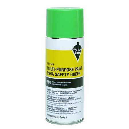Tough Guy 4WGD7 OSHA Safety Green Spray Paint (Safety Spray)