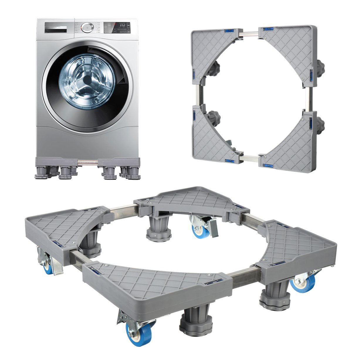 Washing Machine Stand Multi-functional Movable Adjustable Base Mobile for Washing Machine Refrigerator and Dryer
