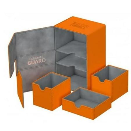 Twin Flip Deck Box w/Tray - XenoSkin, Orange (160+) New