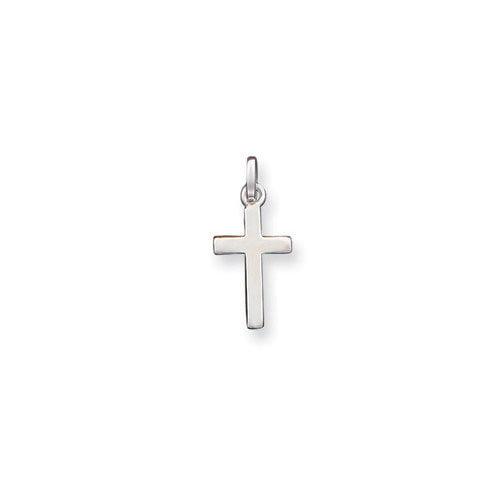 Jewelryweb Sterling Silver Cross Charm