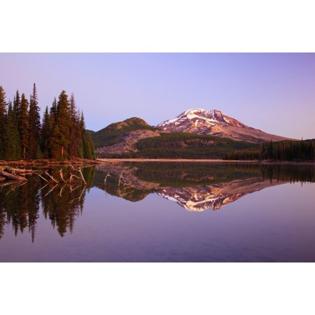Image of Sunrise Over Sparks Lake And South Sister In The Three Sisters Wilderness Oregon United States of America Canvas Art - Craig Tuttle Design Pics (38 x 24)