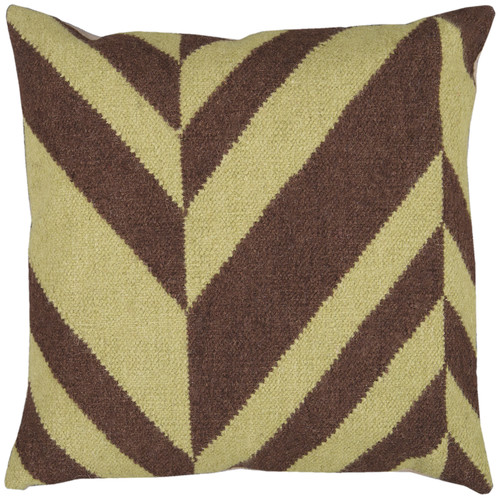 Surya Slanted Stripe Throw Pillow