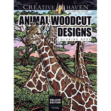 Dover Publications Animal Woodcut Adult Coloring Book