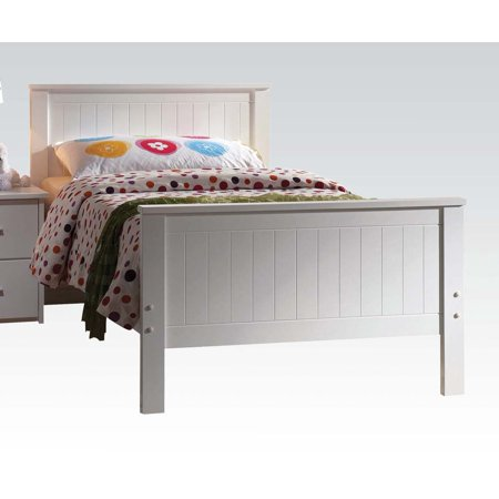 ACME Bungalow Twin Panel Bed with Slat System in White, Multiple Sizes (Collection Twin Slat)
