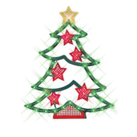 northlight 18 inch lighted christmas tree with stars window silhouette decoration For18 Lighted Christmas Tree With Stars Window Silhouette Decoration