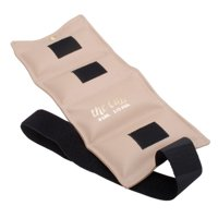 Deluxe Cuff ankle and wrist weight for strength training and aerobics, 6 pound, beige