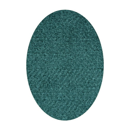 Commercial Indoor/Outdoor Area Rug with Rubber Marine Backing for Patio, Porch, Deck, Boat, Basement or Garage with Premium Bound Polyester Edges Teal Color 12'X15'