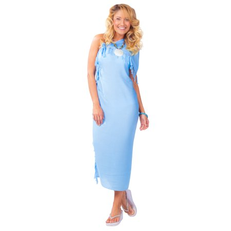 9fae98842c 1 World Sarongs - 1 World Sarongs Womens Beach Cover-up Solid Color Sarong  in Light Blue - Walmart.com