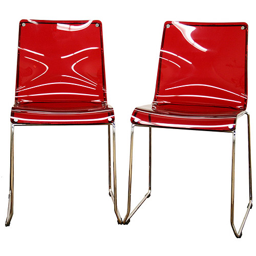 Baxton Studio Lino Transparent Acrylic Dining Chairs, Set of 2 by Baxton Studio