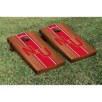Nebraska Cornhuskers 2' x 4' Rosewood Striped Cornhole Board Tailgate Toss Set - No Size