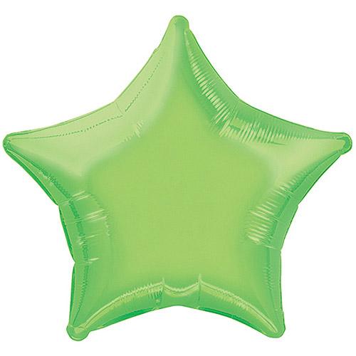 20'' Foil Lime Green Star Balloon