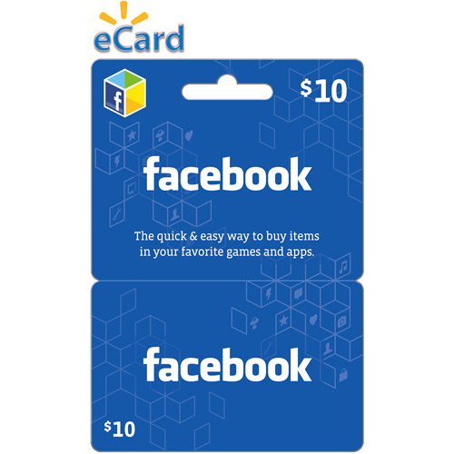 Facebook $10 eGift Card (Email Delivery)