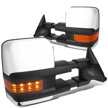 For 1988 to 2000 Chevy / GMC C / K 1500 2500 3500 Powered Tow Mirrors Amber LED Turn Signal Lights