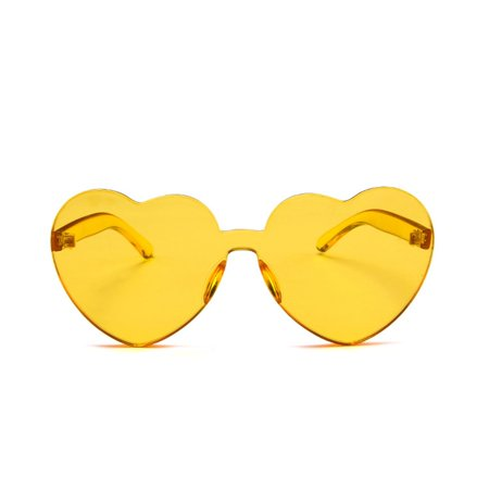 Heart-shaped Sunglasses Transparent Jelly Color Love Peach Heart Sun Glasses - image 1 of 6