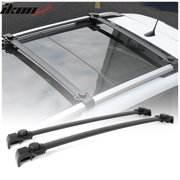 Compatible with 2014-2018 Jeep Renegade OE Factory Style Aluminum Roof Rack Cross Bars Pair