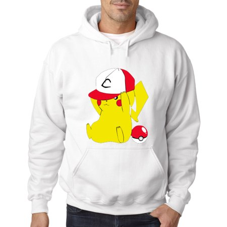 522 - Hoodie Pikachu Trainer Hat Pokeball Pokemon Go Sweatshirt - Pikachu Hoodie For Men