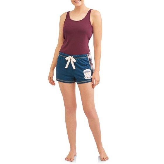 Women's and Women's Plus Blue Pajama Short