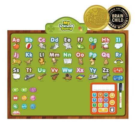 BEST LEARNING i-Poster My Learning Board - Educational Posters for Preschoolers & Toddlers 3 to 6 Years Old to Learn ABC