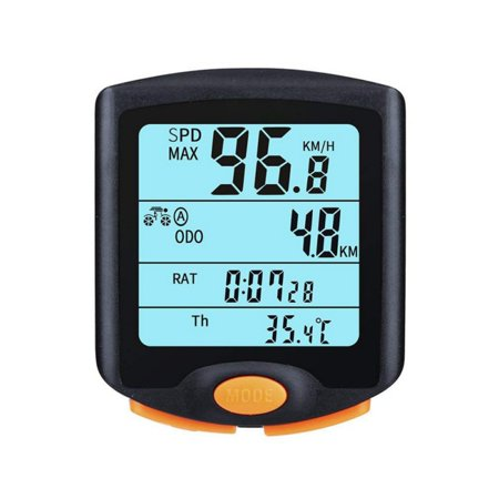 Bicycle Speedometer and Odometer Wireless Waterproof Cycle Bike Computer with LCD Display & Multi-Functions