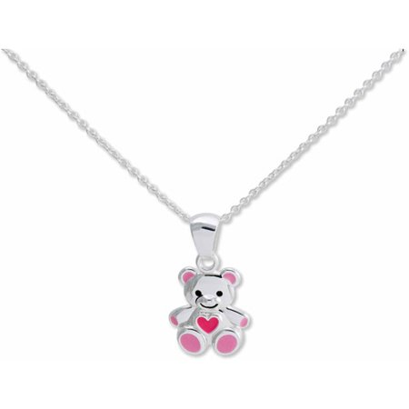 Girl's Sterling Silver Bear -