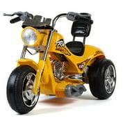 Mini Motos 12V Red Hawk Motorcycle, Yellow by Mini Motos