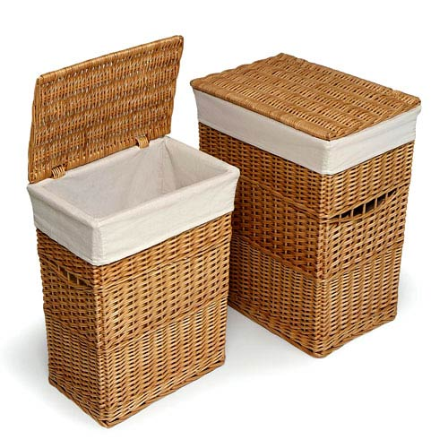 Badger Basket 2-Hamper Set, Natural by Badger Basket