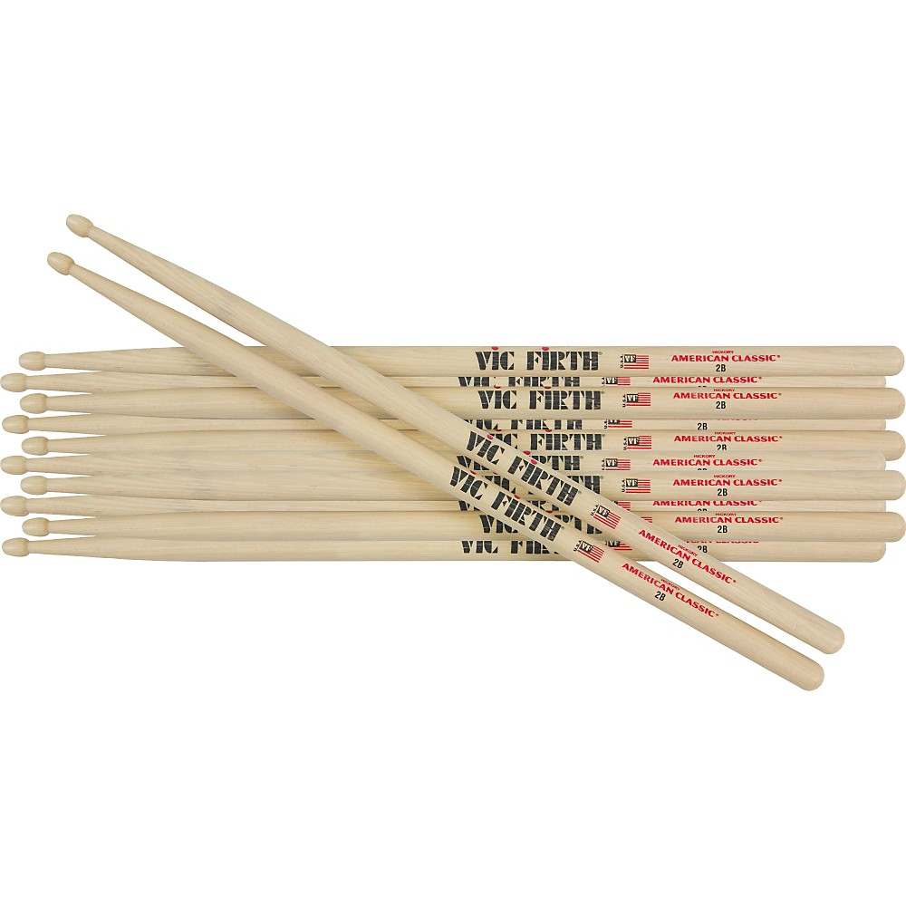 Vic Firth 6-Pair American Classic Hickory Drumsticks Wood 5A